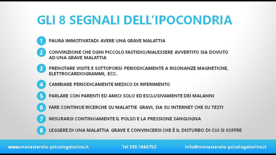 Sintomi Ipocondria Psicologo Torino