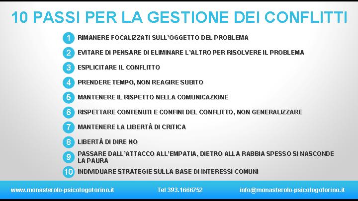 Guida Gestione Conflitti Psicologo Torino