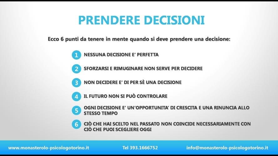 Prendere decisioni Psicologo Torino