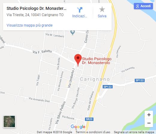 Monasterolo Psicologo Psicoterapeuta Carignano