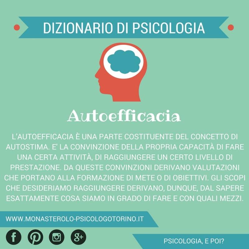 Dizionario di Psicologia Autoefficacia - Psicologo Psicoterapeuta Torino