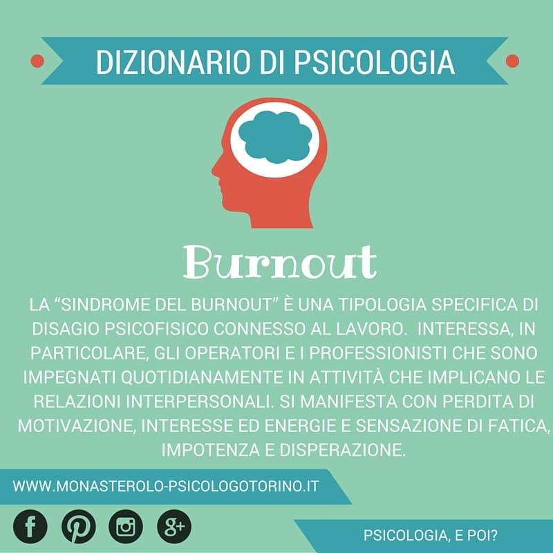 Dizionario di Psicologia Burnout - Psicologo Psicoterapeuta Torino