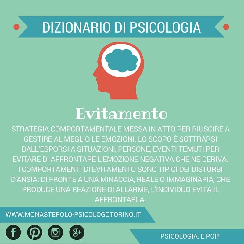 Dizionario di Psicologia Evitamento - Psicologo Psicoterapeuta Torino