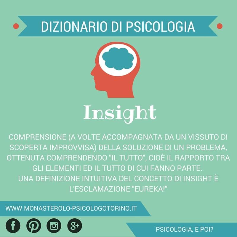Dizionario di Psicologia Insight - Psicologo Psicoterapeuta Torino
