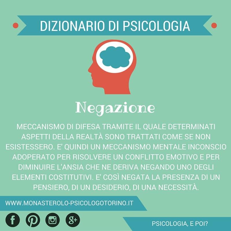 Dizionario di Psicologia Negazione - Psicologo Psicoterapeuta Torino