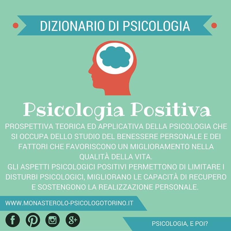 Dizionario di Psicologia Positiva - Psicologo Psicoterapeuta Torino