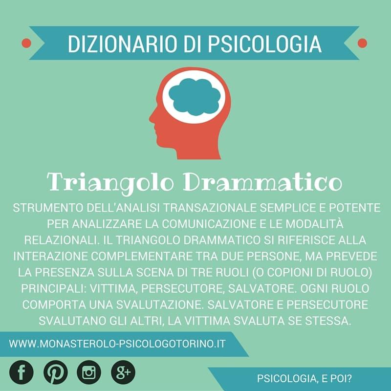 Dizionario di Psicologia Triangolo Drammatico - Psicologo Psicoterapeuta Torino