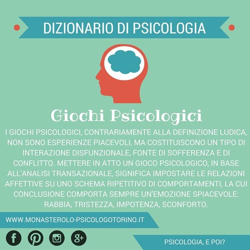 Dizionario Giochi Psicologici